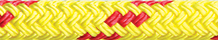 Dinghy Tow Rope Yellow with Red Fleck